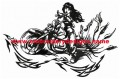 Tribal biker machine embroidery designs