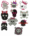 Skull machine embroidery designs