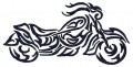 Bike Tribal Embroidery Design