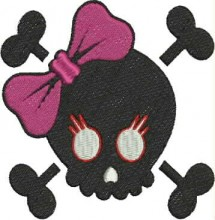 cute skull girl bow free embroidery patterns to download free embroidery designs