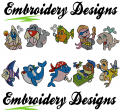 Sea friends Machine embroidery Designs