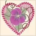 Embroidery Heart Love Designs