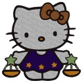 Libra Kitty Embroidery Design
