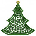 Christmas Lace Embroidery Design