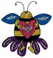bee in love free machine embroidery designs