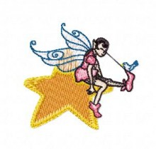 small fairy embroidery designs pes format