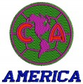 America logo top quality use digital embroidery designs