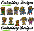 Cute bears Machine embroidery Designs