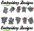 Elephant Machine embroidery Designs