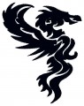 black tribal dragon embroidery designs to download