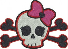 skull baby kitty free machine embroidery designs