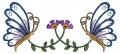 Floral butterfly embroidery Designs