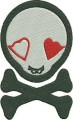 vampire love skull free embroidery designs pes format