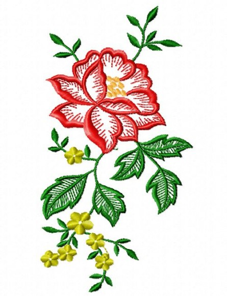 Rose Border Artistic Designs Machine Embroidery