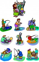 Fishing family embroidery Designs