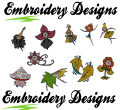 Dancing flowers Machine embroidery Designs