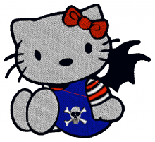 Haloween Hello Kitty Baby Embroidery designs-Embroiderydesigns.name