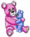 Pink teddy bear embroidery designs