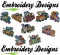 Living trains Machine embroidery Designs