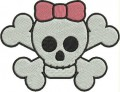 cute girly skull tattoo free machine embroidery designs