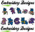 Elephant Party Friends Machine embroidery Designs