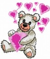 Valentine loving teddy bear embroidery designs