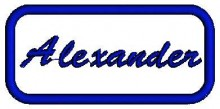 alexander name free embroidery design ideas
