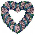 floral heart free machine embroidery designs