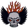 biker skull in flames tribal brother free embroidery designs