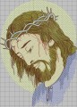 Jesus religious embroidery design