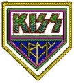 Kiss Army Logo Embroidery Design