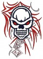 biker punisher tribal embroidery designs