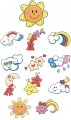 Children's Sky Embroidery Designs