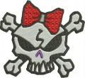 mean girly skull free embroidery designs pes format