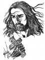 Jesus embroidery design pattern