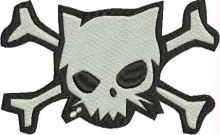 bad skull kitty free machine embroidery designs