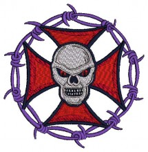 biker skull tribal brother free embroidery design