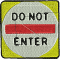 Do Not Enter Sign Embroidery Design