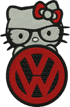 Volkswagen Kitty Embroidery Design