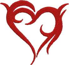 Tribal heart machine embroidery patterns free