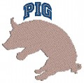 PIG-Logo Embroidery designs-Embroiderydesigns.name