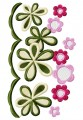 Floral edges machine border artistic design