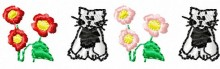Cat border embroidery designs downloads