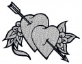 heart tattoo embroidery designs